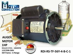 1 Hp Electric Motor Auger Motor 1800 rpm Single Phase 56y Frame