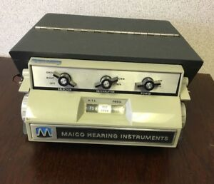 Maico Hearing Instruments Portable Audiometer Model Ma 12b