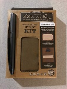 Rite In The Rain 991t kit Tan 5 inch X 3 inch All weather Index Card Wallet