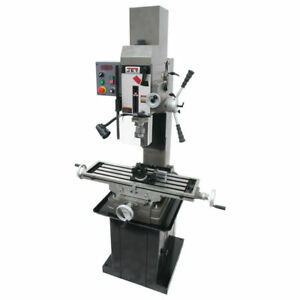 Jet 351164 Variable Speed Square Column Mill Drill With Power Downfeed New