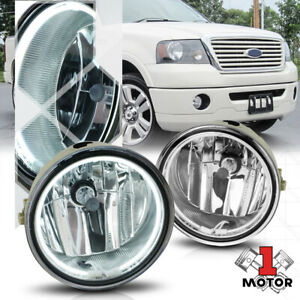Chrome Ccfl Halo Ring Fog Light W harness For 06 10 Ford F150 lincoln Mark Lt