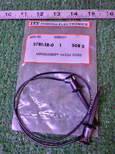 6 New Itt Pomona 3781 18 0 Minigrabber Patch Cord make Offer
