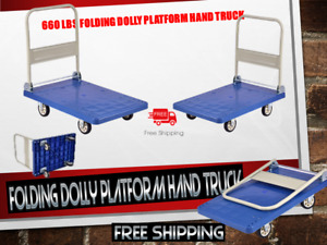 660 Lb Capacity Folding Dolly platform Hand Truck free Shipping Brand New