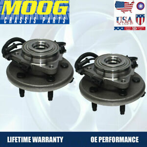 Moog Front Wheel Hub Bearing Fits Ford Explorer Aviator 2002 2005 W Abs 2pack