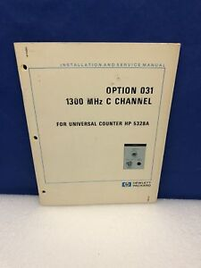 Hp Option 031 1300mhz C Channel For Universal Counter Hp 5328a