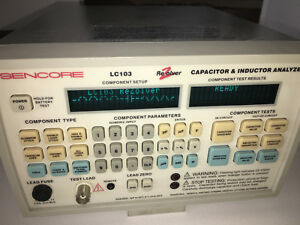 Sencore Lc103 Lc 103 Rezolver Capacitor Inductor Analyzer Free Shipping
