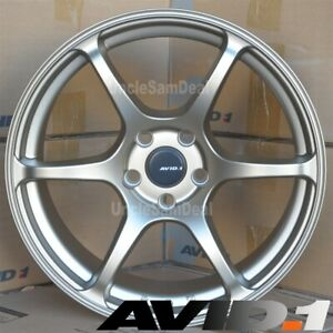 18 18x9 5 5x100 38 Avid 1 Av 26 Racing Gold 6 Spokes Tuner Wheels Set Of 4