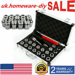 Mt2 Shank Er32 Chuck With 19 Pc Collets Set Spanner For Cnc Milling Machine