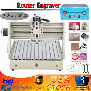 400w 3 Axis Engraver 3040 Cnc Router Engraver Engraving Drilling Milling Machine