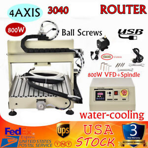 4axis 3040 Cnc Router Engraver Ballscrew usb Milling 3d Drill Machine 800w Vfd