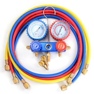 Refrigerant Hvac R410a Manifold Gauges 5ft Hoses Halogen Detection Tools