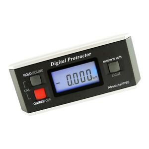 Magnetic Level Box Inclinometer Angle Finder Digital Protractor Waterproof