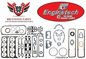 Enginetech Chevy Sbc 350 5 7 Premium Overhaul Gasket Set 1986 1995