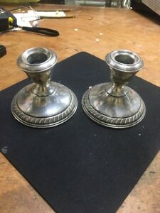 Walling Ford Sterling Silver Candlesticks 16 35 Scrap Ounces Free Shipping