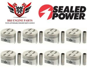 Chevy Chevrolet 350 5 7 Sbc Sealed Power Dish Top Pistons 8 1968 1995
