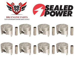 8 Gm Chevrolet 396 Bbc Big Block Chevy Sealed Power Pistons 1965 1970