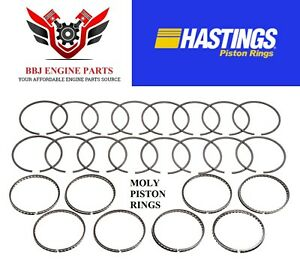 Ford 302 5 0 351w 5 8 1986 1998 Hastings Moly Piston Rings