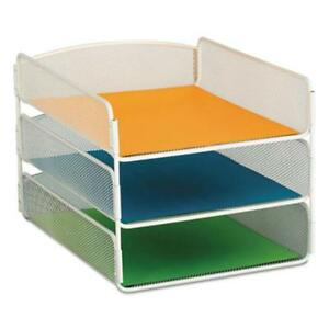 Safco Onyx Letter Tray 3 Compartment s 3 Tier s 8 Height X 3271wh