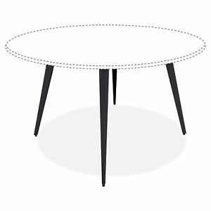 Lorell Round Conference Table Steel Base llr 59643 llr59643