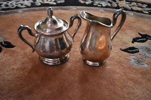 Reed Barton Jamestown Silver Plated Creamer 1803 Sugar Bowl 1802