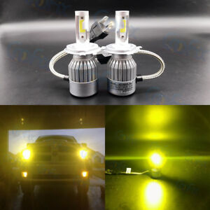 New H4 9003 3000k Yellow 8000lm Cree Led Headlight Bulbs Kit High
