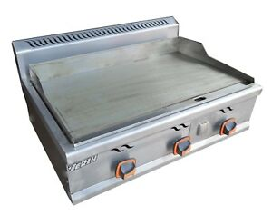 Stainless Commercial Kitchen Countertop Flat Griddle Grill Natural Gas 2000pa