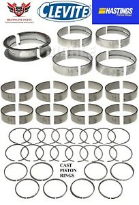 Ford 351 351m 400 Modified 77 82 Clevite Rod Main Bearings And Hastings Rings
