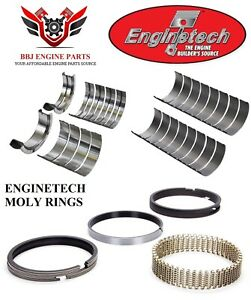 Enginetech Ford 351 351w 5 8l Windsor Rod Main Bearings With Moly Piston Rings