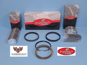 Enginetech Chevy Bbc 402 Rod And Main Bearings With Piston Rings 1970 1973