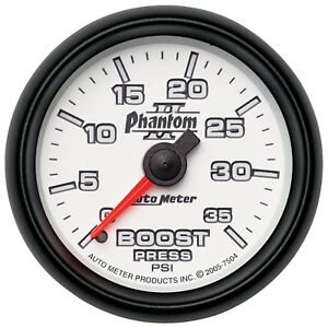 Autometer 7504 Mechanical Boost Gauge Phantom Ii W White Dial Face