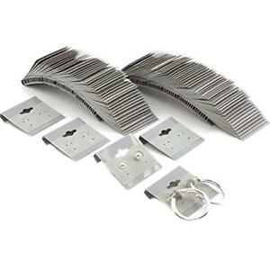 100 Grey Hanging Earring Cards Jewelry Display 1 5