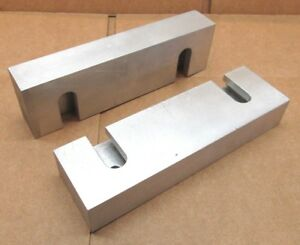 New Pair Of 6 X 1 3 4 X 1 Quick change Aluminum Milling Vise Jaws For 6 Kurt