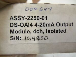 Omnex Ds oa14 4 Channel 4 20ma Isolated Output Module Assy 2250 01 new In Box