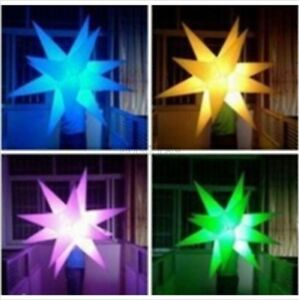 Party Decoration Star With Led Changeable Light And Blower Inflatable New Vq