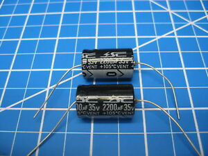 Sc Gha Series Axial Electrolytic Capacitors 35v 2200uf 2 Pieces