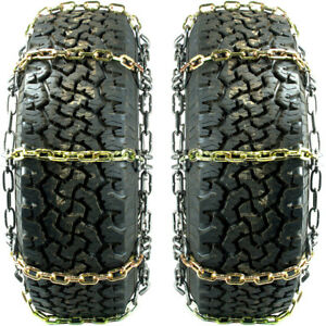 Titan Alloy Square Link Tire Chains On Off Road Ice Snow Mud 8mm 35x13 50 20