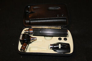 Vtg Welch Allyn 3 Piece Otoscope With Case Physician Travel Set
