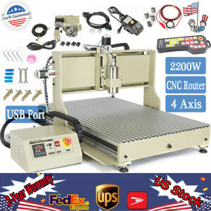Usb 4 Axis 2 2kw Cnc 6090 Router Engraver Mill Wood 3d Cutter Handwheel Control