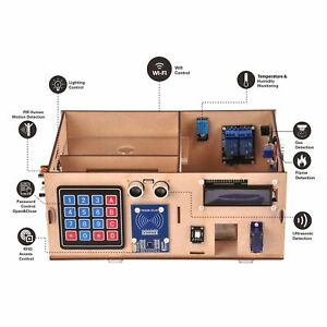 Smart Home Yun Iot Kit For Arduino Wooden Model Android ios Wifi Remote Control