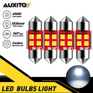 Auxito 4x Dome Light De3175 White 6000k Canbus Led Bulb For Toyota Camry 4runner