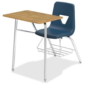 Lorell Rectangular Medium Oak Top Student Combo Desk llr 99914 llr99914