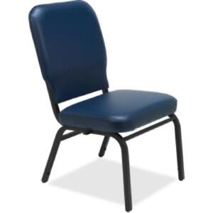 Lorell Vinyl Back seat Oversized Stack Chairs Vinyl Navy Seat llr59595