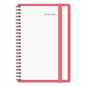 At a glance 89420013 Color Play Weekly monthly Planner 4 7 8 X 8 White red