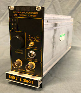 Melles Griot 17 Mpz 001 Piezo Electric Controller With Feedback Module 17mpz001