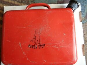 Never Stop Fuel Container Vintage Steel Gas Can