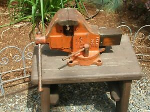 Nice Large Columbian Model 203 1 2 Machinist Mechanics Heavy Duty Vintage Vise