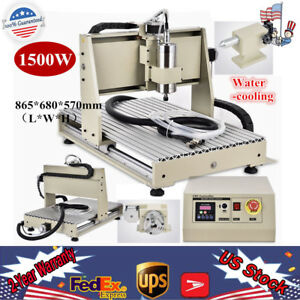4 Axis Cnc 6040 Router Engraving Machine Drill Mill 3d Cutter Usb 1500w Er11 a
