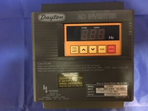 Dayton Ac Inverter 1xc94 In 200 230v 60 50hz Out 1 2hp 3 0a Max 3x8592r009