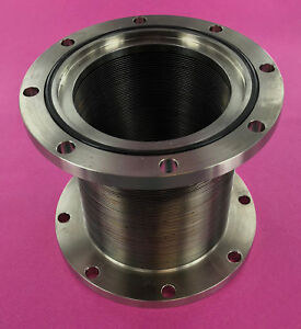 High Vacuum 3 5 Id 6 Od Asa Stainless Ss Flexible Bellows Mdc Vacuum Chamber