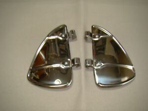 Vintage Style Stainless Steel Breezies Wing Window Air Wind Deflector